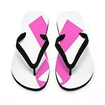 pink-ribbon Flip Flops