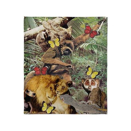 Jungle Jive Throw Blanket