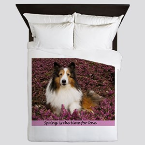 Spring Is The Time For Love Queen Duvet