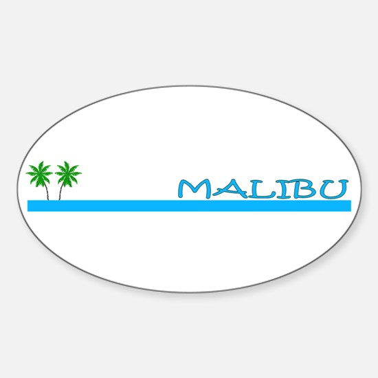 Malibu, California Oval Decal