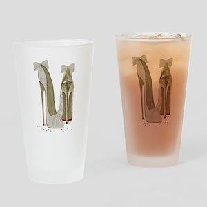 Wedding High Heel Stilettos Art Drinking Glass