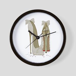 Wedding High Heel Stilettos Art Wall Clock