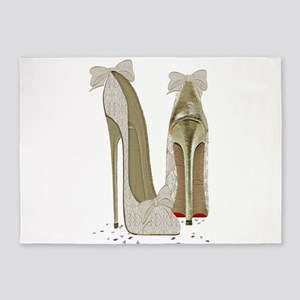 Wedding High Heel Stilettos Art 5'x7'Area Rug