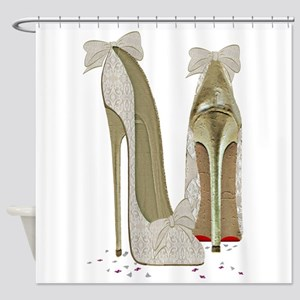 Wedding High Heel Stilettos Art Shower Curtain