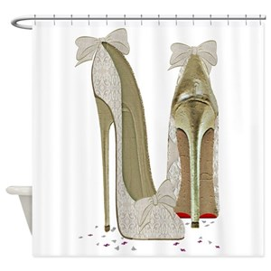 Laced Shoe Shower Curtains