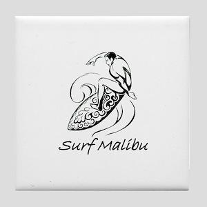 Surf Malibu, California Tile Coaster