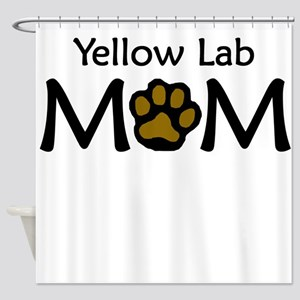 Yellow Lab Mom Shower Curtain