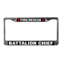 Fire Chief License Plate Frame