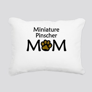 Miniature Pinscher Mom Rectangular Canvas Pillow