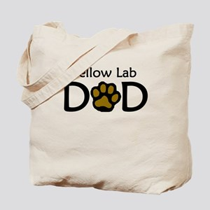 Yellow Lab Dad Tote Bag