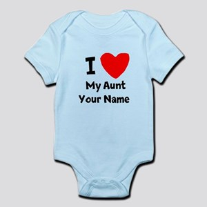 I Heart My Aunt (Your Name) Body Suit