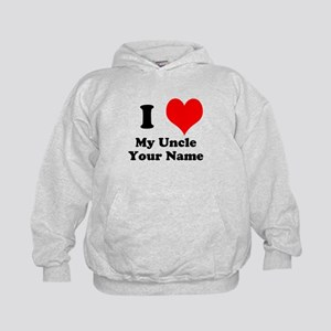 I Heart My Uncle (Your Name) Hoodie