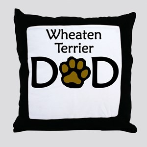 Wheaten Terrier Dad Throw Pillow