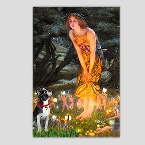 Fairies & Boston Terrier Postcards (Package of 8)