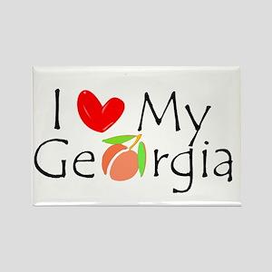 Love my Georgia Peach Rectangle Magnet