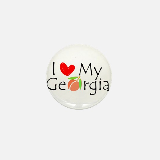 Love my Georgia Peach Mini Button