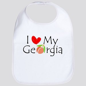 Love my Georgia Peach Bib