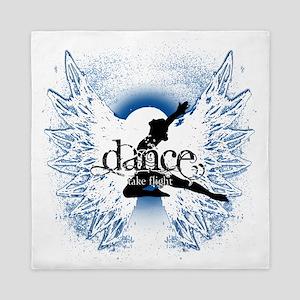 Dance Take Flight Indigo Mist Queen Duvet