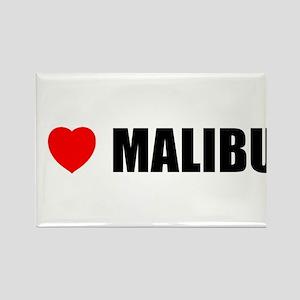 I Love Malibu, California Rectangle Magnet