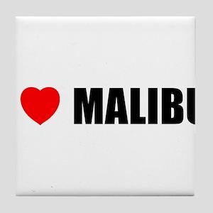 I Love Malibu, California Tile Coaster