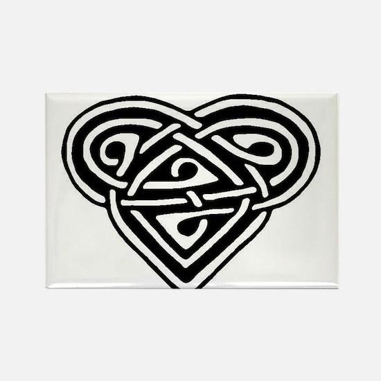 Celtic heart Rectangle Magnet