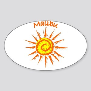 Malibu, California Oval Sticker