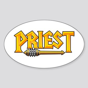 Priest @ eShirtLabs.Com Oval Sticker