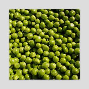 peas, vegetable, Queen Duvet