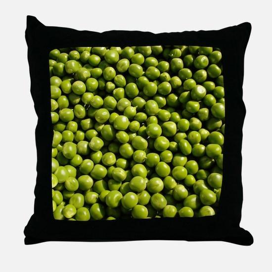 peas, vegetable, Throw Pillow