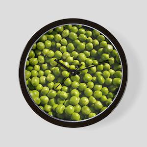 peas, vegetable, Wall Clock