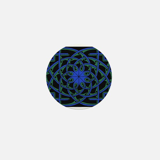 celtic weave design by Alan M Mini Button
