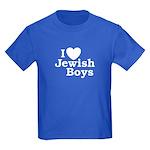 I Love Jewish Boys Kids Dark T-Shirt
