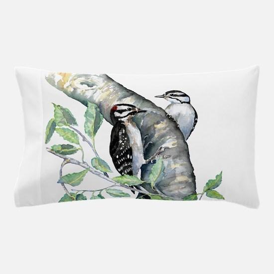 Downy Woodpecker Pillow Case