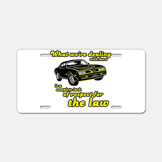 Cute Police car Aluminum License Plate
