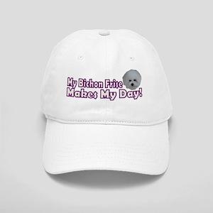 My Bichon Frise Makes My Day Cap