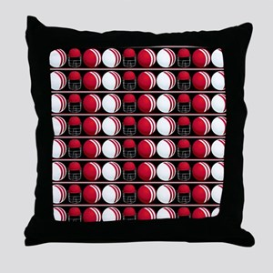 Cricket Balls and Helmet Throw Pillow