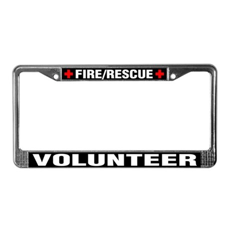 Fire Rescue Volunteer License Plate By K9searchrescue