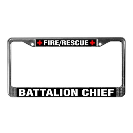 Fire Chief License Plate Frame by k9searchrescue