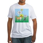 Cat vs Dog Fitted T-Shirt