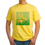 Cat vs Dog Yellow T-Shirt