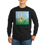 Cat vs Dog Long Sleeve Dark T-Shirt