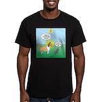 Cat vs Dog Men's Fitted T-Shirt (dark)