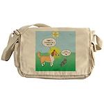 Cat vs Dog Messenger Bag