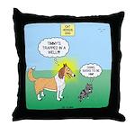 Cat vs Dog Throw Pillow