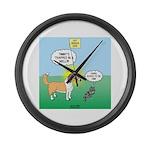 Cat vs Dog Large Wall Clock
