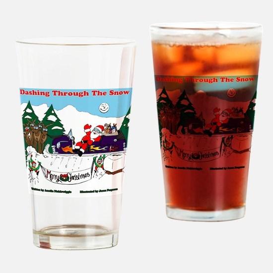 Dashing through the snow Drinking Glass