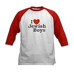 I Love Jewish Boys Kids Baseball Jersey