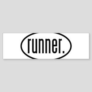 runner-oval Bumper Sticker