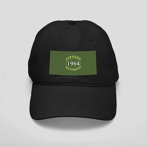 Vintage 1964 Birth Year Black Cap