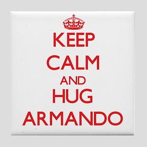 Keep Calm and HUG Armando Tile Coaster